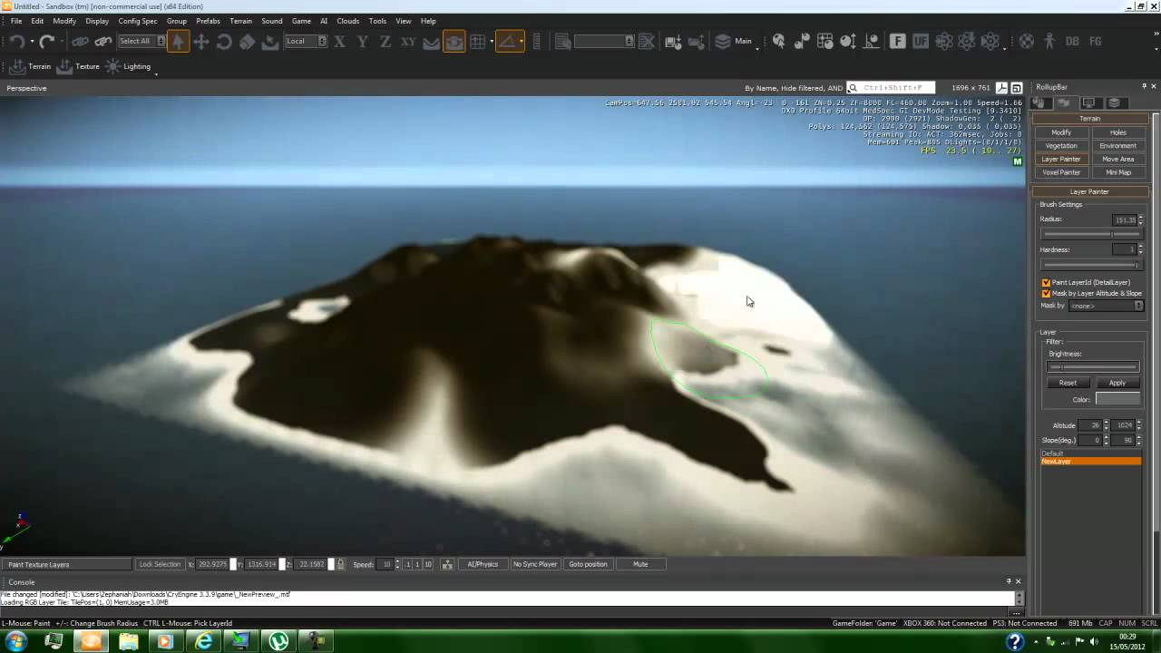 Cry Engine 3 tutorials:Terrain and texture