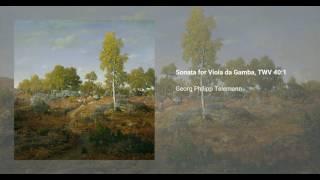 Sonata for Viola da Gamba, TWV 40:1