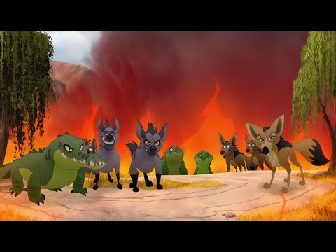 Lion Guard: Scar's Army attack Kilio Valley | The Kilio Valley Fire HD Clip