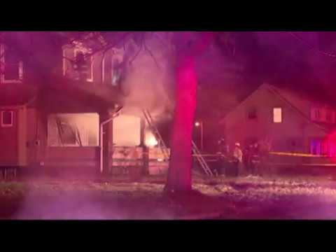 Five children, including 1-year-old twins, died in a late-night fire that swept through a house Sunday night in Youngstown, Ohio. (Dec. 10)