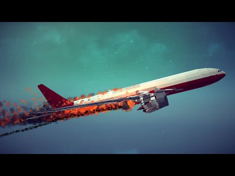 Boeing 777x Shot Down by Four Different Weapons #2   Besiege