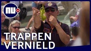 Politie verjaagt zittende toeristen van Spaanse Trappen in Rome | NU.nl