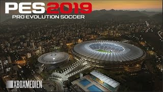 PES 2019 ALL Stadiums Aerial View Full HD 60 FPS Gameplay (Xbox One, PS4, PC)