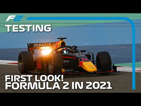 F2 2021 のマシンがテスト走行でマシン公開された動画