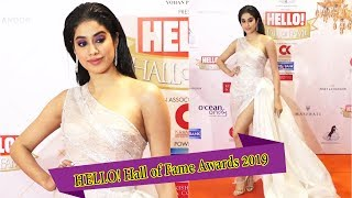 Janhvi Kapoor At HELLO Hall of Fame Awards 2019 .