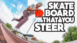 SKATEBOARD USES STEERING WHEEL?!