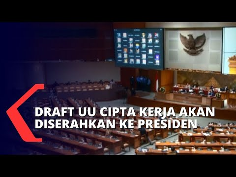 besok dpr akan serahkan draf final uu cipta kerja kepada presiden jokowi