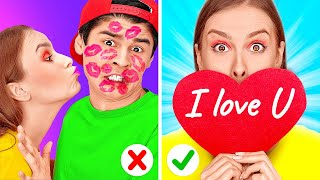 BE MY VALENTINE! || Valentine's Day Couple Hack, Pranks and Life By 123 GO Like!