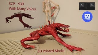 SCP-939 3D Printed in VR with Reading
