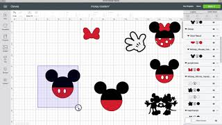Making Minnie And Mickey Icons In Cricut Design Space