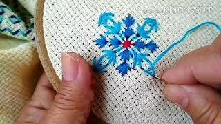 148-Easy And Fast Straight Stitch  Embroidery  On Matty /Jute Cloth (Hindi /Urdu)