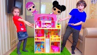 Дети САМИ ПОСТРОИЛИ ДОМ! Во Всем ВИНОВАТА Кукла LOL! Для детей kids children