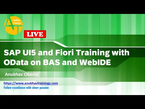 SAP UI5 Online Training   LIVE Fiori Demo Session   SAPUI5 ...