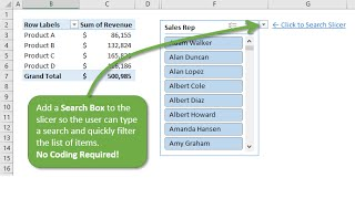 How to Add a Search Box to a Slicer in Excel