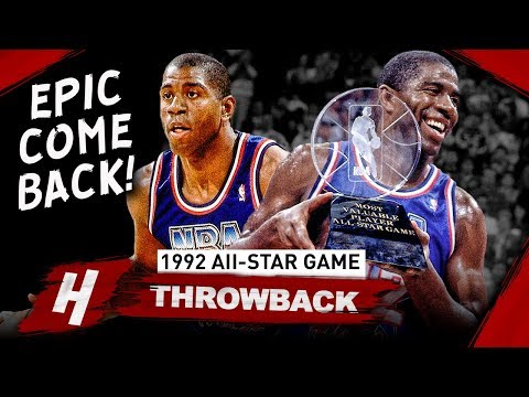 The Game Magic Johnson Came Back & Won MVP At 1992 NBA All-Star Game - EPIC Full Highlights!