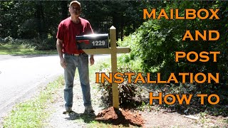 Mailbox and Post Installation