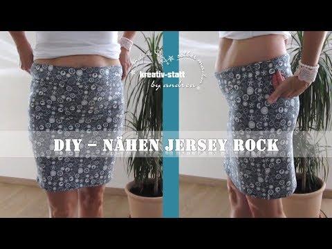 DIY Nähen - Jersey Rock -  Hüfte oder Taille - Wie man kopiert