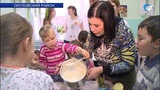 Волонтерский отряд «Доброхоты» и петербургские автомобилисты устроили праздник в окуловском приюте