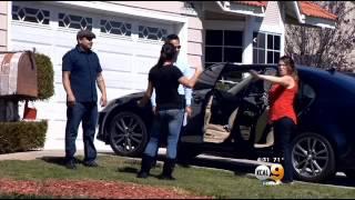 Cellphone Camera Rolls As Teen Girls Fistfight In Corona