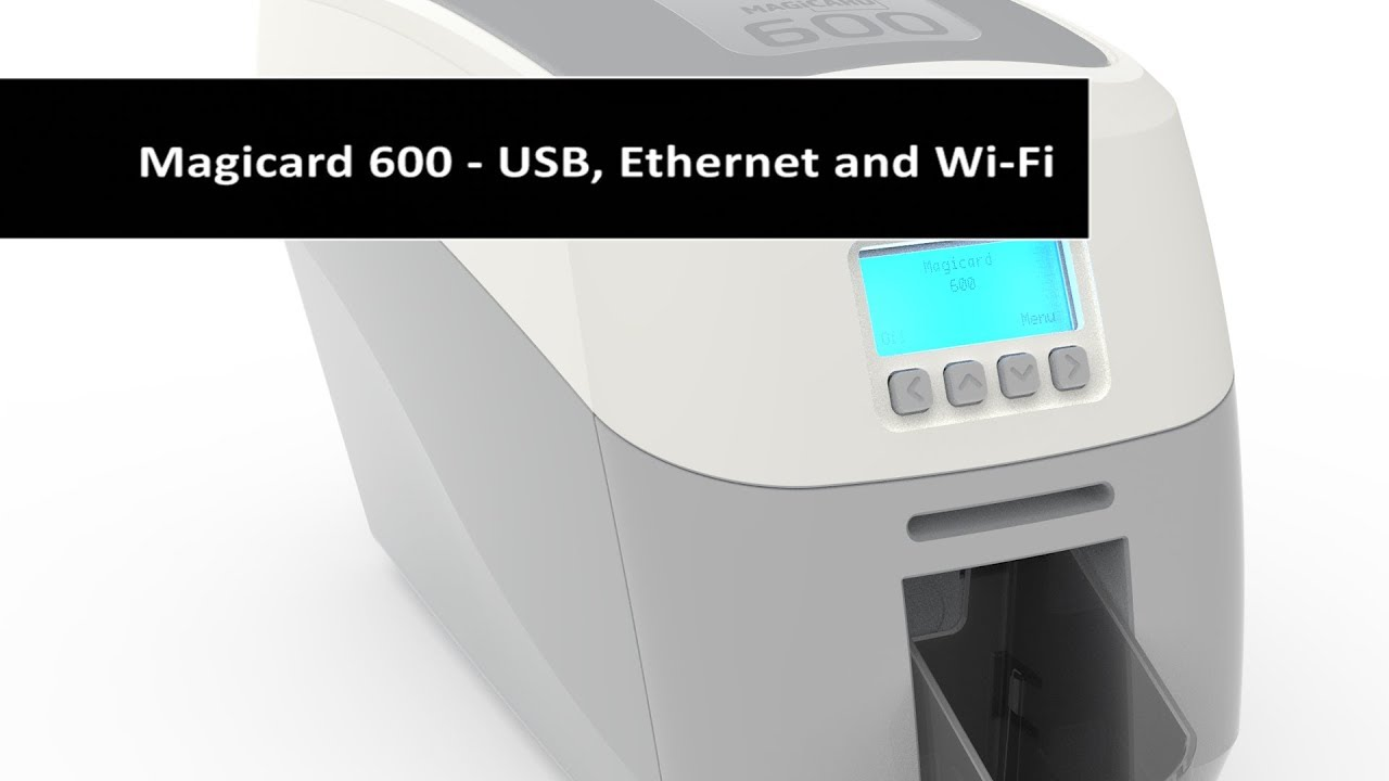 Magicard 600 - Single or Dual Sided - USB, Ethernet and Wi-Fi