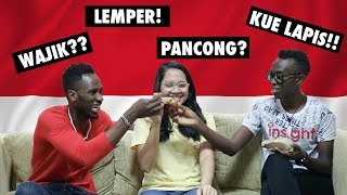 FOREIGNERS TRY INDONESIAN TRADITIONAL CAKES