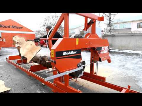 Пилорама LT 15 Power Wood-Mizer в работе. www.пилорама1.рф