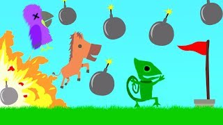 If You TOUCH A BOMB You LOSE! (Ultimate Chicken Horse)