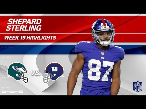 Sterling Shepard Highlights | Eagles vs. Giants | NFL Wk 15 Player Highlights