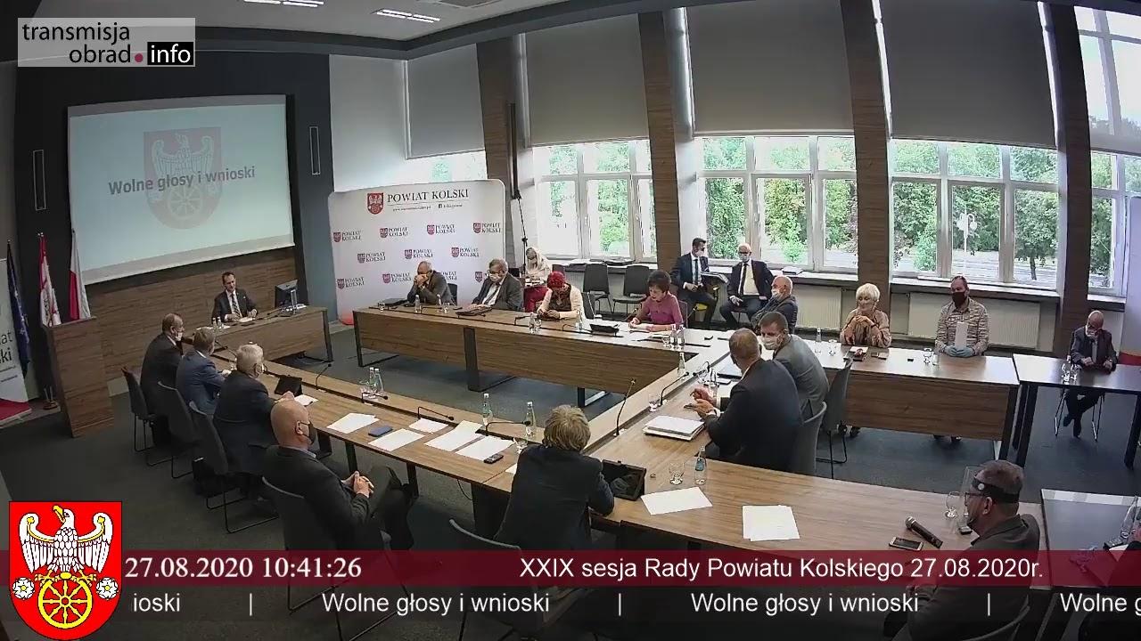 Zdjęcie do XXIX sesja Rady Powiatu Kolskiego