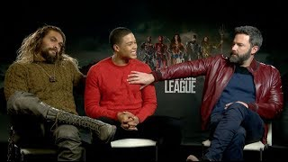 JUSTICE LEAGUE | Ben Affleck, Jason Momoa & Ray Fisher Press Junket Interview