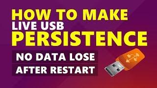kali linux install live usb persistence