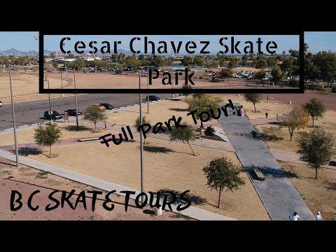 Cesar Chavez Skate Park Full Skate Park Tour Phoenix, Arizona