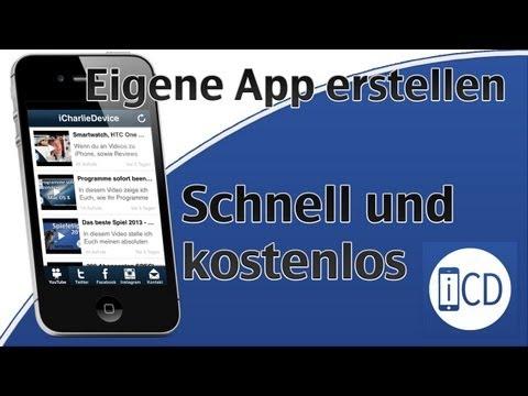 Eigene App erstellen - Schnell und kostenlos (iOS & Android)*nicht mehr aktuell*