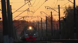 Электропоезд ЭД4М-0488 ЦППК перегон Нара-Бекасово 1 15.10.2018