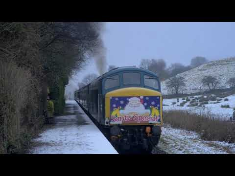 East Lancashire Railway Santa Specials in the snow 9th Decem…