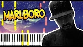 MiyaGi   Marlboro   На Пианино   Ноты