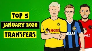 The Onefootball x 442oons show is here with a look back on the Top 5 January 2020 transfers! There's Eriksen, Haaland, Fernandes and more as Man United, Dortmund, Juventus and other clubs looked to do the best business possible!  ► Liked the video? Let us know by subscribing to our channel: http://bit.ly/SubscribeToOnefootball ► Liked it a lot? Download our app: http://bit.ly/2GeDHEK Onefootball is the world's most comprehensive football app and is available free on iOS, Android and Windows Phone!  ► Check our website: https://www.onefootball.com/en ► Like us on Facebook: http://bit.ly/1YpT8ud ► Follow us on Twitter: http://bit.ly/2lDcoK8 ► Follow us on Instagram: http://bit.ly/1U7uYQh ► Listen to the Onefootball podcast: http://bit.ly/2617W55  Photo credits: Getty