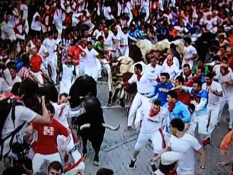 Bull Run 09-07-2013 { Pamplona } 3 Rep