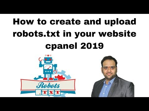 How to create and upload robots txt in your website cpanel 2019