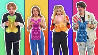 First To Finish GIANT GUMMY BEAR Challenge Wins $20,000 **BAD IDEA**🐻🌈   Piper Rockelle