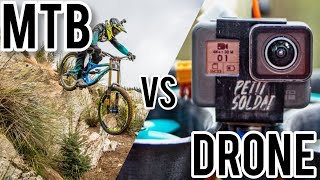 RACE DRONE Chases PRO MOUNTAIN BIKER