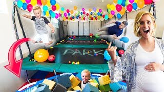 WE BUILT A REAL LIFE TRAMPOLINE PARK IN OUR HOUSE!