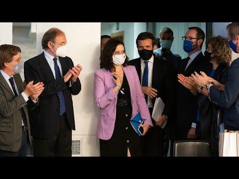 Pablo Casado e Isabel Díaz Ayuso intervienen en la reunión del Comité Ejecutivo Nacional del PP