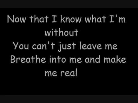 Evanescence-Bring Me To Life lyrics