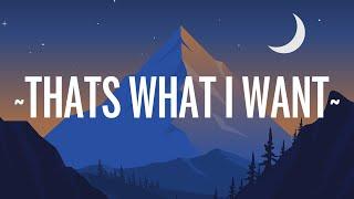 Lil Nas X - THATS WHAT I WANT (Lyrics)