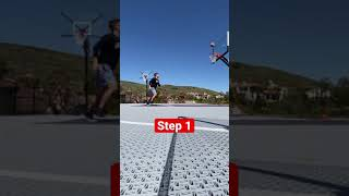 EPIC 4 Step Basketball Trick Shot!