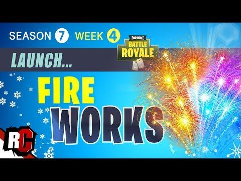Launch Fireworks Wailing Woods Location Week 4 Season 7 Fortnite