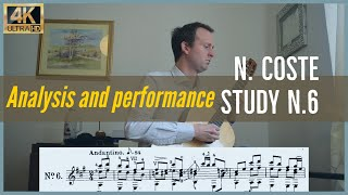 Napoleon Coste, study n. 6 op. 38. Analysis and Performance.