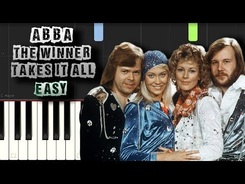 Abba - The Winner Takes It All - EASY - [Piano Tutorial] (Synthesia) (Download MIDI + PDF Scores)