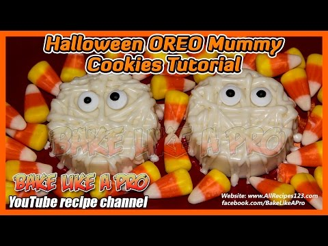 Easy Halloween OREO Mummy Cookies Tutorial